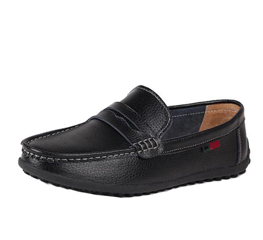 Spring new driving soft mens fashion pachwork slip-on casual leather shoes breathable sew soft loafers black white brown