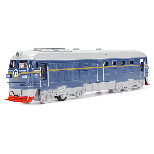 Diecast Metal Train Model Toy Classic Train Toy with Sound and Light Vehicle Playset (Color Random)