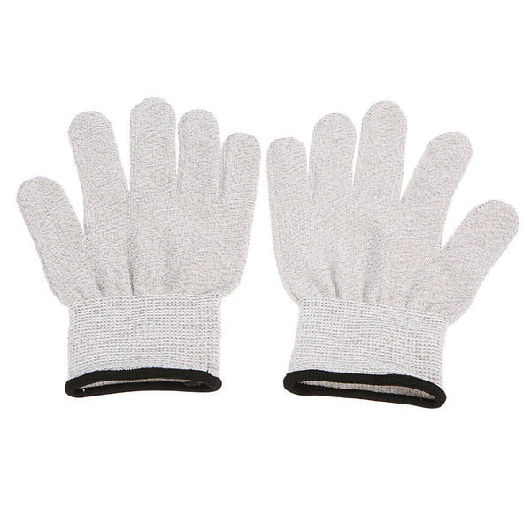 Conductive Glove 1 Pair Electrode Glove for Muscle Pulse Massage Physiotherapy Electrotherapy Massage Glove Silver Conductive Fiber