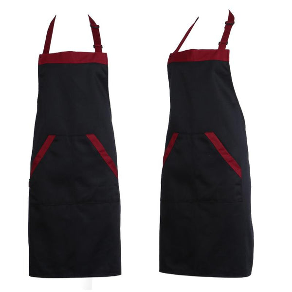 Unisex Aprons with 2 Pockets Halterneck Cooking Baking Aprons Catering Kitchen Cleaning Apron Kitchen Accessories