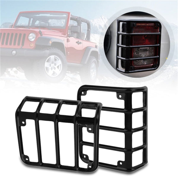 Car Tails Light Rear Lamp Cover Led Light Guard Cover Guards for Headlight For Jeep For Wrangler 07-16 Compatible Automobile Hot
