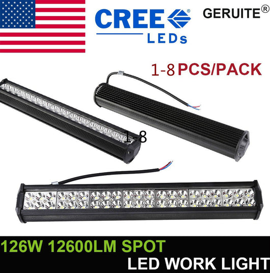 126W 42 LED 4D Worklight Offroad Headlight for Jeep SUV 10-30V IP67 (SIZE:1-4PCS)