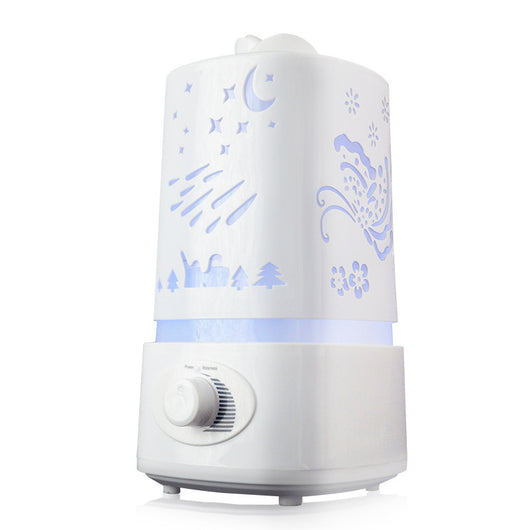1500ML Air Humidifier Aroma Diffuser 7 Color LED With Carve Essential Oil Diffuser Mist Maker for Home Office Baby Room