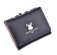 women's short wallet rabbit wallet cute female students fold wallet