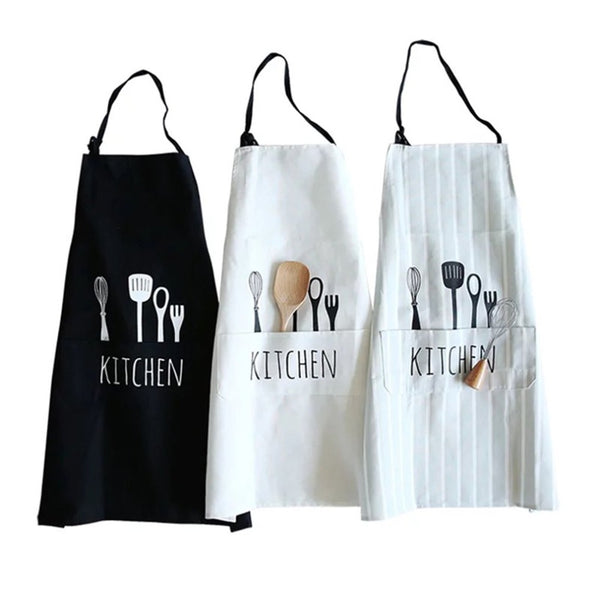 Comfortable Full Cotton Women Men Apron Commercial Restaurant Barbecue Home Dining Room Cooking Halterneck Aprons