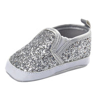 Newborn Girls Boys Crib Shoes Soft Sole Anti-slip Baby Sneakers Sequins Shoes