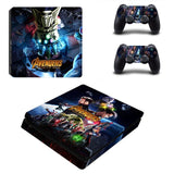 Avengers: Infinity War PS4 Slim Skin Sticker Decals Designed for PlayStation4 Slim Console and 2 controller skins
