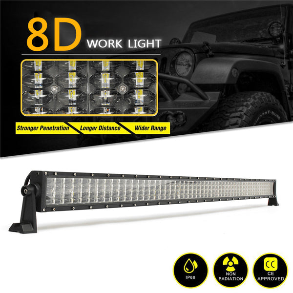 52Inch LED Light Bar 600W 10-30V Car Roof Work Light Combo Beam Spotlight 8D Work Light for Jeep UAZ VAZ Truck SUV