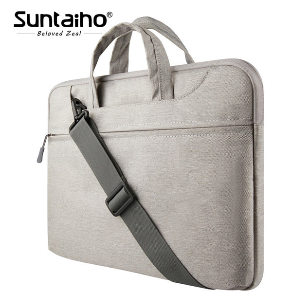 Laptop Sleeve Bag 11 12 13 15 inch Protective Zipper Shoulder Notebook Case Bag for Macbook 13 Air Pro unisex men women Durable