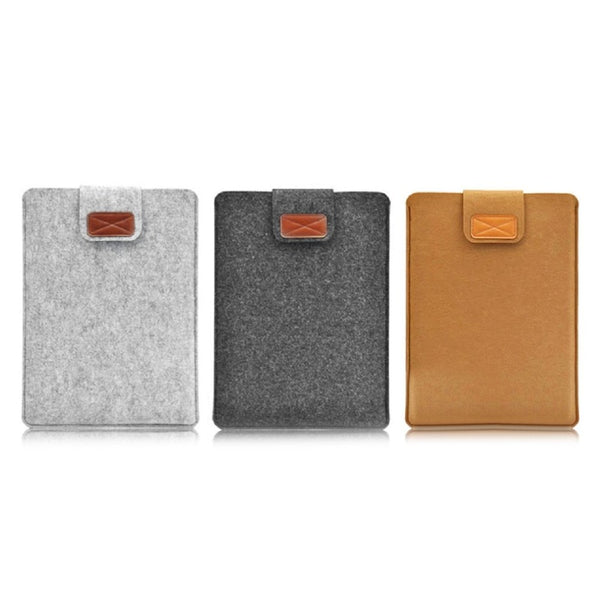 Fashionable Design Soft Felt Tablet Sleeve Bag Case Ultra Thin Protective Case Cover Suitable for Macbook Air 11.6 12 13.3 15.4