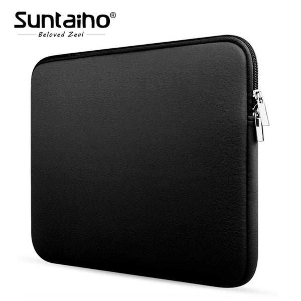 Newest Soft Sleeve Laptop Bag Case For Macbook Air Pro Retina 11 13 15 inch Zipper Bags For Mac Book Carry Pouch Cover Notebook