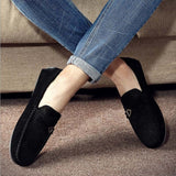 Tangnest 2018 New Men Casual Shoes Genuine Leather Loafers Comfortable Flats Fashion Buckle Outdoor Men Driving Shoes XMR2811