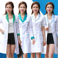 Long Sleeve Medical clothing women Medical gown Lab coat White coat Clothes for doctors Summer and Spring