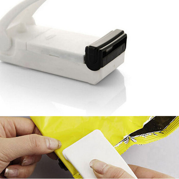 Home Use Portable Mini Sealer Multifunction White Bag Clips Handheld Heat Sealing Machine Seal Packing Plastic Bag Kitchen Tool