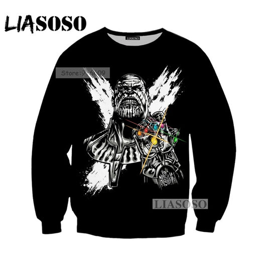 LIASOSO NEW Movie Avengers 3 Infinity War Superhero Thanos Hulk Iron man Tee 3D Print T shirt/Hoodie/Sweatshirt Unisex Tops G605