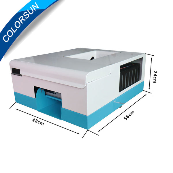 Upgrade automatic pvc card printer for 86mm*54mm,70mm*100mm,80mm*110mm,102mm*148mm inkjet PVC id card printing machine