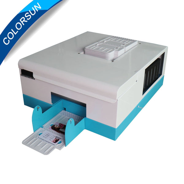 Upgrade automatic pvc id card printer for 4 size inkjet card printing machine 86*54 name card printer 70*100 pvc card printer