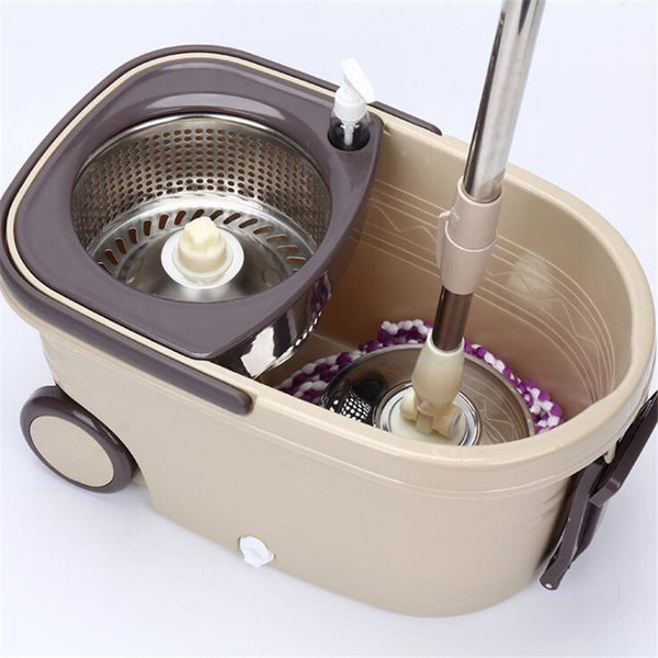 Double Drive Hand Pressure Spin Mop Bucket 360 Degree Rotating Dry Mop with Cleaning Bucket Household Cleaning Tools