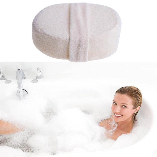 Body Brush Natural Loofah Effective Exfoliator Bath Pad Massage Shower Loofah Back Spa Bath Shower Sponge Round Scrub