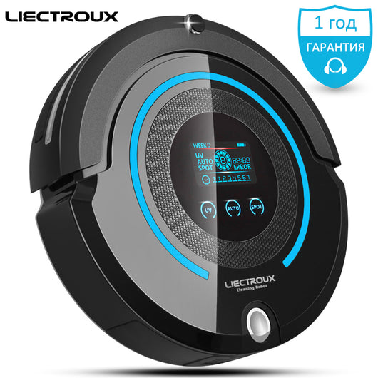 LIECTROUX A338 robot vacuum cleaner,UV lamp,Speedadjustment,RemoteController Anti-fallingupdated from A335,mop pad,virtual block
