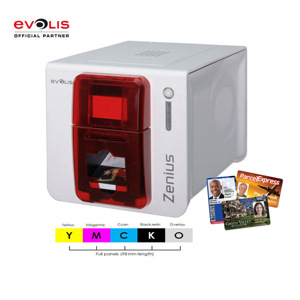 Evolis zenius PVC id card printer single side replacement pebble 4 printer come with a color ribbon for free