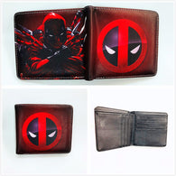 New Arrivel Deadpool Wallets Cartoon Anime Dead Pool Purse Bi-Fold Card Holder Purse Short Leather Wallet W906J