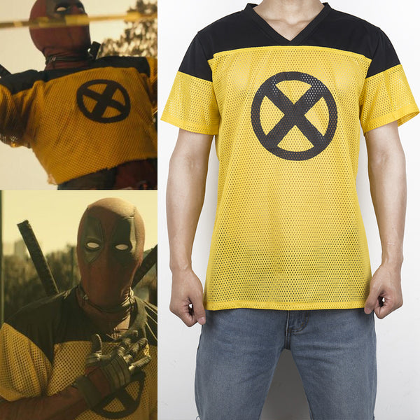 Deadpool 2 Cosplay Costumes Dead Pool Tshirt Movie TV Wade Winston Wilson T-shirt Top Summer Short Sleeve Superhero Men