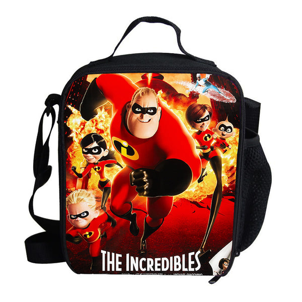 Popular Cartoon Film The Incredibles For Kids Lunch Super Dad/Mom/Kids Lunch Bag Thermal Insulated For Children School
