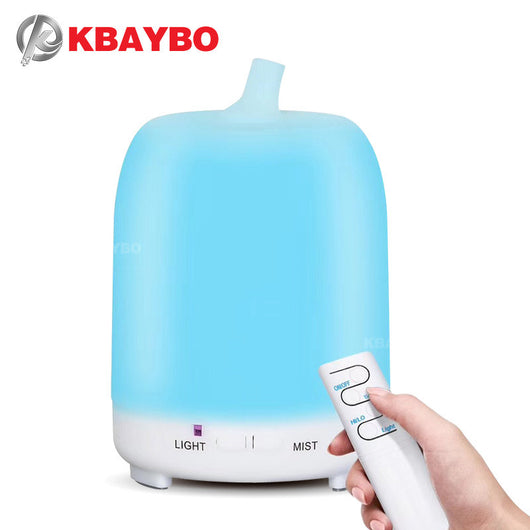 200ml Essential oil Diffuser Air Humidifier Cool Mist Maker with Remote Control Aroma Diffusers Ultrasonic Mist Fogger
