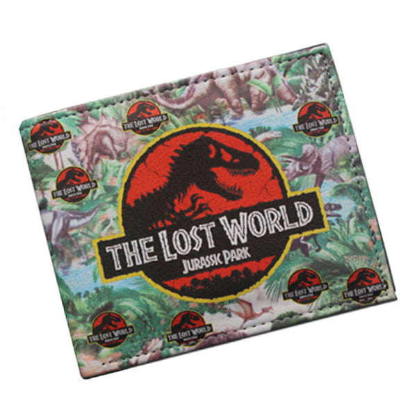 New cartoon Movies The LOST WORLD Cartoon Wallet Dinosaur Wallet Jurassic Park Purse Carteira brand Men Women Card Holder Wallet