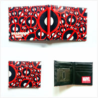 Marvel Comics Deadpool Purse Leather Wallets Super Hero Dead Pool Anime Card Holder Bags Folded Short Purse W983Q
