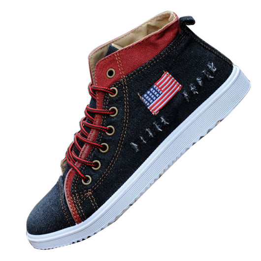Men Shoes Low Canvas Denim Hollow Shoes Fashion Trend Casual Breathable Shoes British Designer-shoe Moccasin Men Lace Up