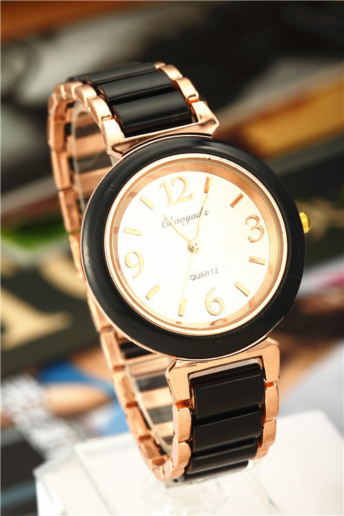 Top Brand Luxury Rose Gold Watch Full Steel Women'S Watches Ladies Watch