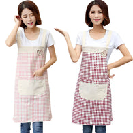 Women Men Cotton Linen Apron Restaurant Home Bib Kitchen Aprons Kitchen Tools 2018ing