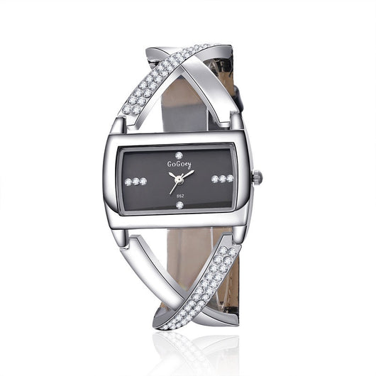 GOGOEY Fashion Women'S Watches Luxury Rhinestone Bracelet Watch Clock
