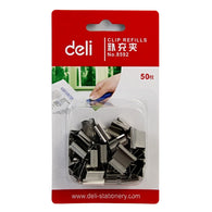 50 Pcs/Pack Deli Quality Metal Paper Clip Refills Binding Office School Supplies Stationery Accessories