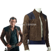 2018 Solo A Star Wars Story Han Solo Cosplay Costume Halloween Costumes For Men Solo Suede Jacket Free Shipping