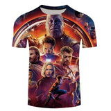 JTCOJX 3D T-shirts Men Avengers Infinity War 3D Print Summer Streetwear Hot Sale Short Sleeve Tees Shirt Top Fitness 6XL