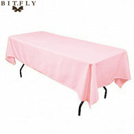 Satin rectangular Table Cloth Tablecloth For Home Wedding tables restaurant Party Christmas Decoration  fabric  pink free ship
