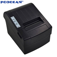 5PCS 80mm pos printer High Speed thermal receipt printer automatic cutting USB+Ethernet ports 300 mm/s_DHL