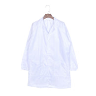 White Blue Medical Anti-static Lab Coat Fabric Smock Unisex Clothes dust-free Dustproof Factory Cleanroom Overalls Plus Size