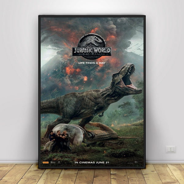 Jurassic World 2 Art Silk Poster Home Decor 12x18 24x36inch