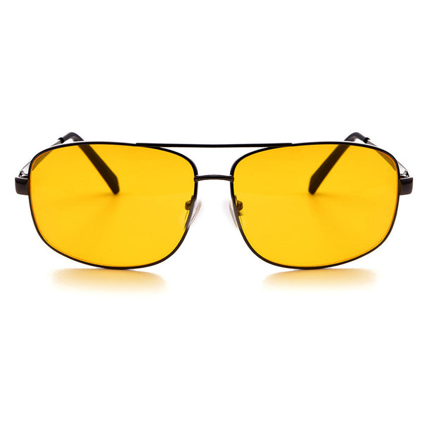 Aviation Night Vision glasses Driving Yellow Lens Classic Anti Glare Vision Driver Safety glasses For Men