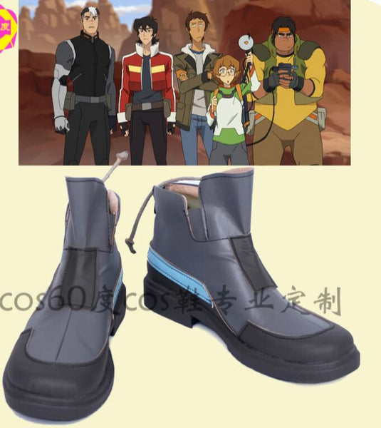 Voltron: Legendary Defender Keith Cosplay costume uniform god version B mens unisex black custom boots punk hero shoes