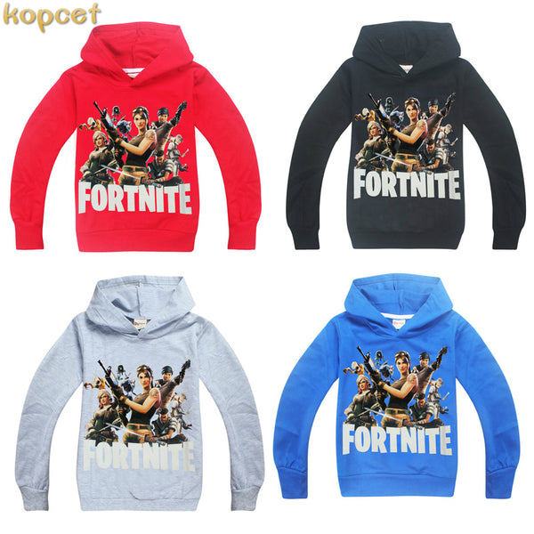 2018 New Spring Autumn Boys Girls Fortnite Pattern Long Sleeve T Shirts Kids Tshirt 3D Printed Hoodie Big Boy Sweatshirt Clothes