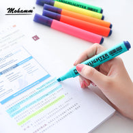 8 Colors/lot Fluorescent Candy Color Highlighters Pen Markers Office School Supplies
