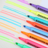 STA 8 Colors Fluorescent Highlighter Pens for Paper DIY Drawing Marker Pen for School Office Supplies Stationery