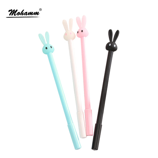 Cartoon Gel Pens Writing Cute Rabbit 0.5mm Black Ink Pen School Office Supplies Stationery