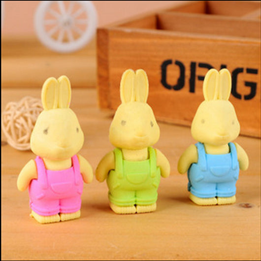 1pcs/lot Cute rabbit eraser creative kawaii stationery office school supplies papelaria gift for kids