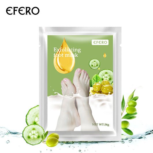 efero Baby Feet Care Exfoliating Foot Mask Peeling Dead Skin Care Pedicure Socks for the Heels Cracks Feet Spa Cream 2pcs=1pair